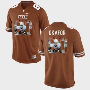 Pictorial Fashion #80 Alex Okafor Texas Jersey Brunt Orange Men's 343552-793