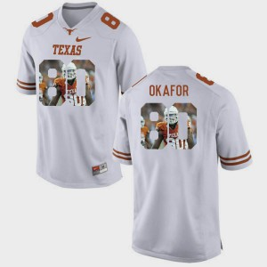 #80 White Pictorial Fashion Men Alex Okafor Texas Jersey 337805-175