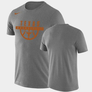 Gray Drop Legend For Men's Performance Basketball Texas T-Shirt 726707-632
