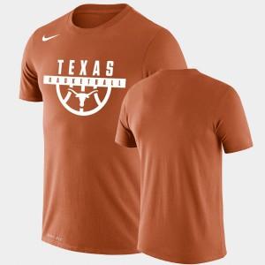 Drop Legend Performance Basketball Orange For Men Texas T-Shirt 868005-438