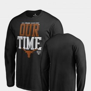 2019 Sugar Bowl Bound Texas T-Shirt Mens Black Counter Long Sleeve 454022-772