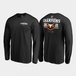 Fair Catch Score Long Sleeve Texas T-Shirt 2019 Sugar Bowl Champions Men's Black 590990-638