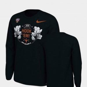 For Men's 2019 Sugar Bowl Bound Verbiage Long Sleeve Texas T-Shirt Black 987265-592