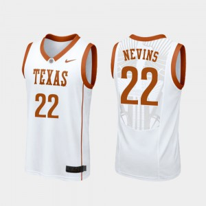 Men Replica Blake Nevins Texas Jersey College Basketball #22 White 594550-690