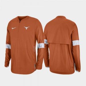 Quarter-Zip 2019 Coaches Sideline Mens Texas Jacket Burnt Orange 128245-996
