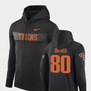 Sideline Seismic Cade Brewer Texas Hoodie #80 Men's Football Performance Anthracite 266095-146