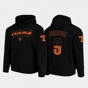 #9 Black Collin Johnson Texas Hoodie For Men's College Football Pullover Wedge Performance 505013-190