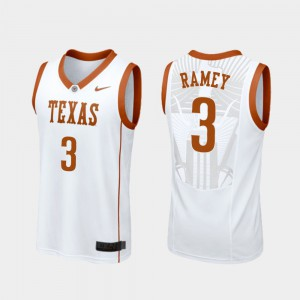 Replica White Men's #3 Courtney Ramey Texas Jersey College Basketball 730953-961