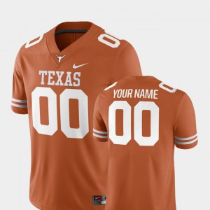 Men's Texas Customized Jerseys College Football #00 Texas Orange 2018 Game 159219-387