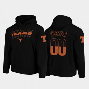 Black #00 Wedge Performance Texas Customized Hoodie College Football Pullover For Men 434213-140