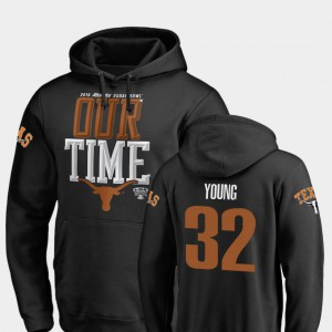 #32 Daniel Young Texas Hoodie Black 2019 Sugar Bowl Bound Counter For Men's 962634-591