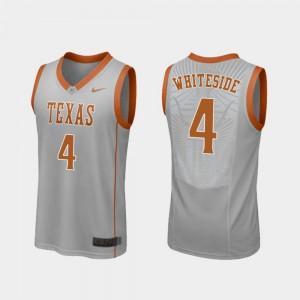 Replica College Basketball Gray Drayton Whiteside Texas Jersey #4 Men 333375-698