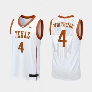 Drayton Whiteside Texas Jersey College Basketball White #4 For Men Replica 430700-658