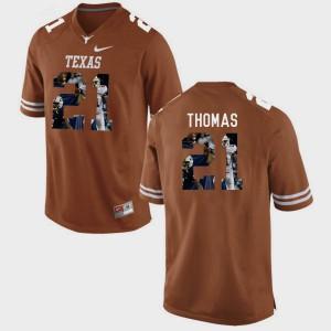 Duke Thomas Texas Jersey Pictorial Fashion #21 For Men's Brunt Orange 176246-310