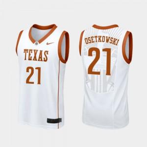 College Basketball White Men Dylan Osetkowski Texas Jersey Replica #21 231012-942