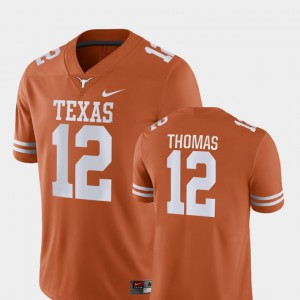 Men's College Football Game Earl Thomas Texas Jersey Orange #12 657676-921