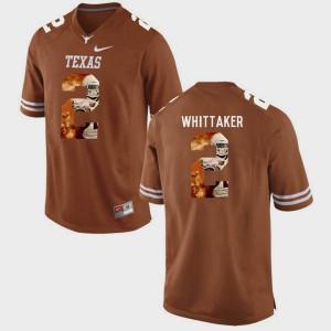 For Men Brunt Orange Pictorial Fashion #2 Fozzy Whittaker Texas Jersey 154589-613