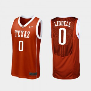 Replica #0 For Men Gerald Liddell Texas Jersey Burnt Orange College Basketball 168230-874