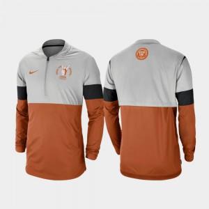 Rivalry Football Half-Zip Gray Texas Orange Texas Jacket For Men 740813-385