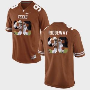 Pictorial Fashion Men's Hassan Ridgeway Texas Jersey Brunt Orange #98 945022-245