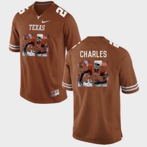 Jamaal Charles Texas Jersey Mens Brunt Orange #25 Pictorial Fashion 769431-356