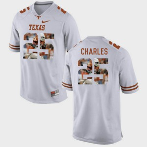 For Men #25 Jamaal Charles Texas Jersey Pictorial Fashion White 507142-150