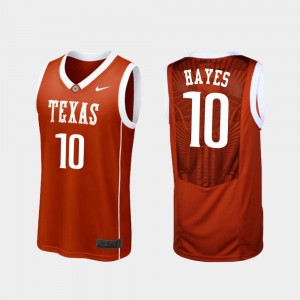 Burnt Orange Replica College Basketball Jaxson Hayes Texas Jersey #10 Men 586590-977