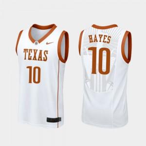 #10 College Basketball Replica For Men White Jaxson Hayes Texas Jersey 253540-870