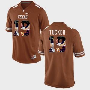 Pictorial Fashion Brunt Orange #19 For Men Justin Tucker Texas Jersey 603497-525