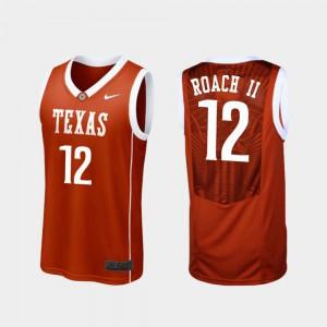 Men's Replica Burnt Orange Kerwin Roach II Texas Jersey College Basketball #12 324803-802