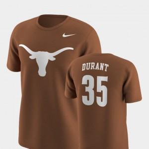 For Men's Texas Orange Kevin Durant Texas T-Shirt Future Stars #35 Replica 331254-385