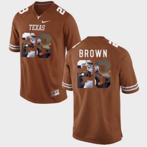 Malcolm Brown Texas Jersey #28 Pictorial Fashion Brunt Orange Men's 437794-460