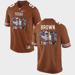 Pictorial Fashion #90 Brunt Orange Malcom Brown Texas Jersey Men's 444912-463