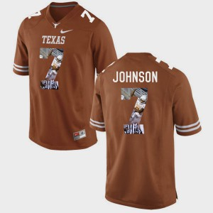 Brunt Orange Marcus Johnson Texas Jersey Pictorial Fashion For Men #7 359723-935
