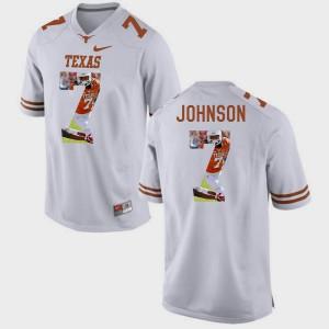 White Pictorial Fashion For Men's #7 Marcus Johnson Texas Jersey 752697-488