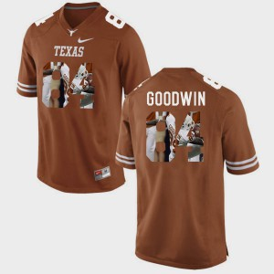 Men's Marquise Goodwin Texas Jersey Brunt Orange #84 Pictorial Fashion 169553-547