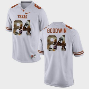#84 For Men Pictorial Fashion White Marquise Goodwin Texas Jersey 703500-894
