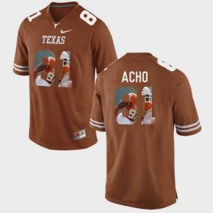 Pictorial Fashion #81 Sam Acho Texas Jersey Brunt Orange Men's 235039-651