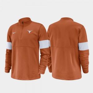 Half-Zip Performance Texas Jacket 2019 Coaches Sideline Texas Orange Men 814743-451