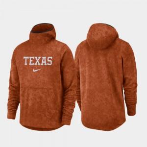 Men's Spotlight Texas Orange Basketball Team Logo Pullover Texas Hoodie 117680-956