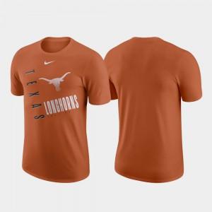 For Men Texas T-Shirt Performance Cotton Just Do It Texas Orange 353426-736