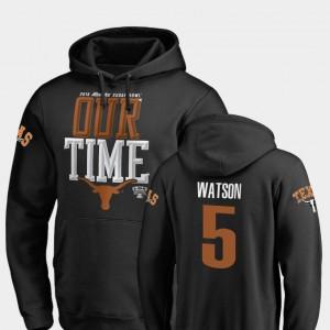 #5 2019 Sugar Bowl Bound Black Tre Watson Texas Hoodie Counter For Men 326720-733