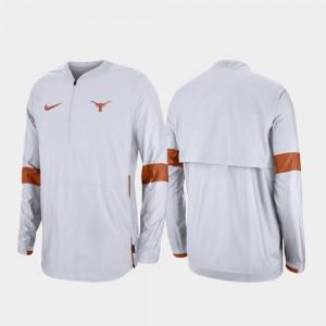 2019 Coaches Sideline Quarter-Zip White Texas Jacket Men 158466-295
