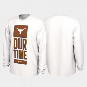 Texas T-Shirt White 2020 March Madness Our Time Bench Legend Mens 665987-258