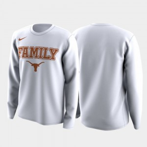 White Texas T-Shirt Men's March Madness Legend Basketball Long Sleeve Family on Court 929069-490