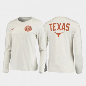 For Men Texas T-Shirt White Rivalry Statement Long Sleeve 403518-509