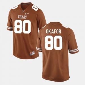 Alex Okafor Texas Jersey Burnt Orange College Football #80 For Men's 280293-906