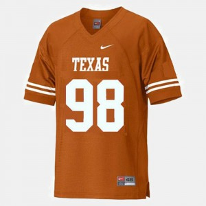 College Football Youth Brian Orakpo Texas Jersey #98 Orange 595531-845