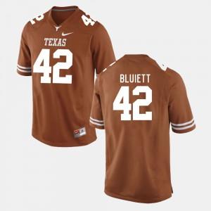 Burnt Orange Caleb Bluiett Texas Jersey College Football #42 Mens 888989-641