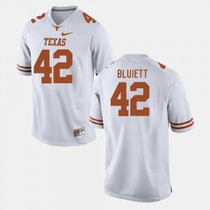 White Men Caleb Bluiett Texas Jersey #42 College Football 955013-603